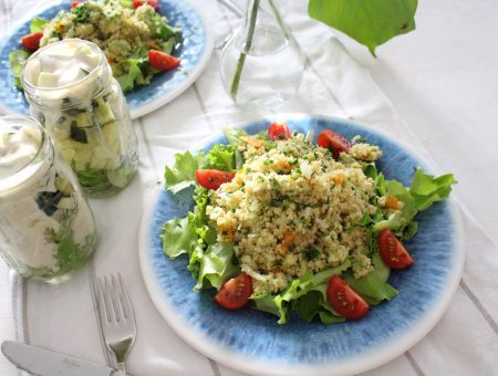 Sommerlicher CousCous Salat
