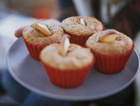Vegane Bananen-Apfelmuffins